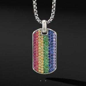 David Yurman Streamline Rainbow Pave Pendant